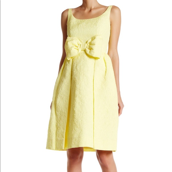 kate spade Dresses & Skirts - Kate Spade Yellow Tavor jacquard floral bow dress